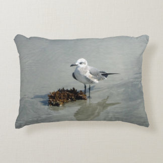Seagull with Seaweed Accent Pillow