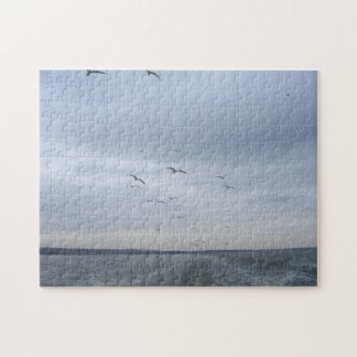 Seagulls Flying Jigsaw Puzzle