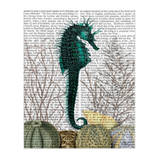 SeaHorse and Sea Urchins Acrylic Wall Art