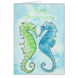 Seahorse Anniversary Greeting Cards