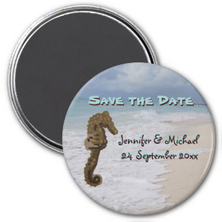 Seahorse Beach Wedding Save the Date Magnet