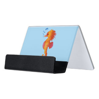 Seahorse Bubble Baby Desk Business Card Holder