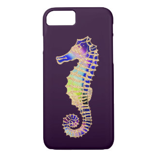 Seahorse, Glitter Rainbow illustration iPhone 8/7 Case