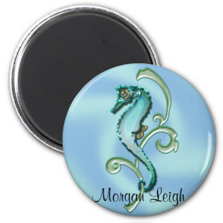 Seahorse in the Seaweed 6 Cm Round Magnet