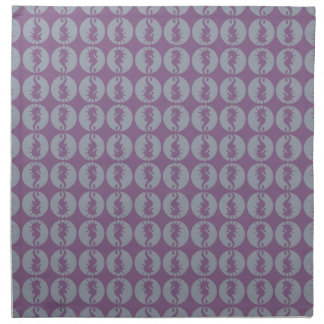Seahorse Pattern in Gray and Purple Napkin