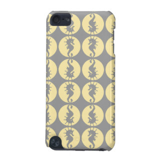 Seahorse Pattern in Yellow and Gray iPod Touch (5th Generation) Case