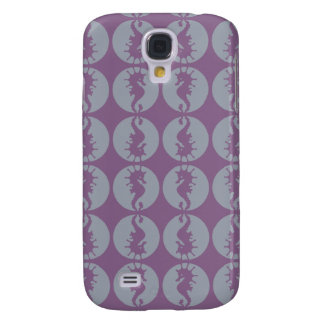 Seahorse Pern in Gray and Purple Galaxy S4 Case
