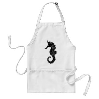 Seahorse Silhouette Standard Apron