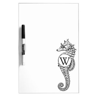 Seahorse Sketch Initialed Dry-Erase Board