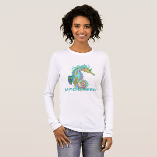 Seahorse Teeshirt with Magic reef logo Long Sleeve T-Shirt