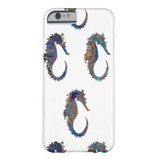 Seahorses in Elegant Batik Pattern Barely There iPhone 6 Case