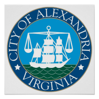 Seal of Alexandria, Virginia Poster