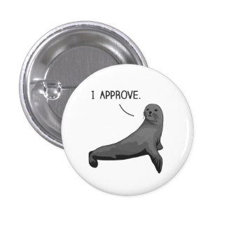 Seal of Approval 3 Cm Round Badge
