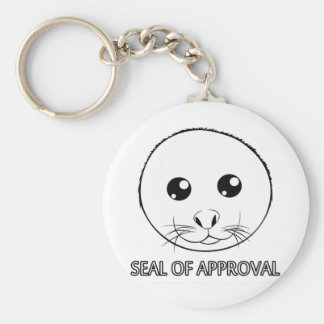 Seal of Approval Basic Round Button Key Ring