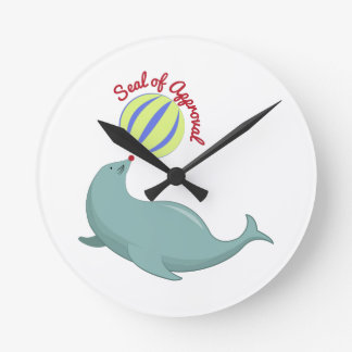 Seal of Approval Round Wallclock