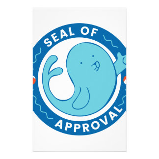Seal of Approval Custom Stationery
