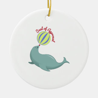 Seal of Approval Round Ceramic Decoration