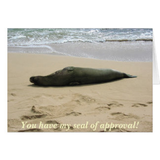 Seal of Approval - Kauai, Hawaii Greeting Card