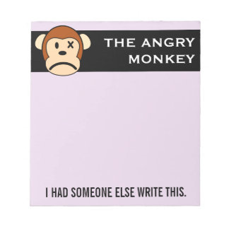 Seal of Approval Message endorsed by Angry Monkey Memo Note Pads