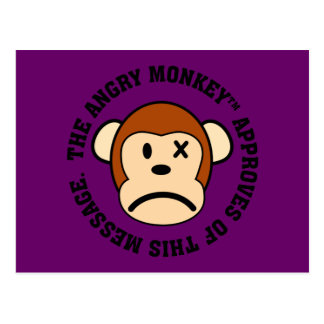 Seal of Approval Message endorsed by Angry Monkey Post Cards