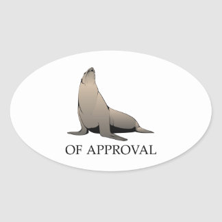 Seal Of Approval Oval Sticker