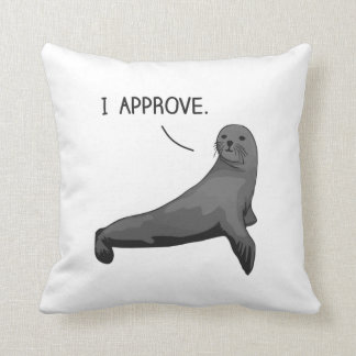 Seal of Approval Throw Pillows
