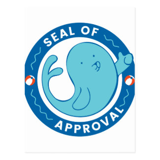 Seal of Approval Postcard