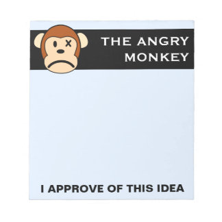 Seal of Approval: Product endorsed by Angry Monkey Memo Notepads
