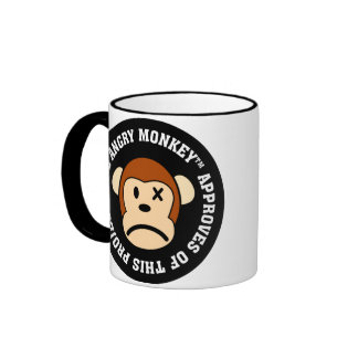 Seal of Approval: Project endorsed by Angry Monkey Ringer Mug