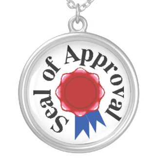 Seal Of Approval Round Pendant Necklace