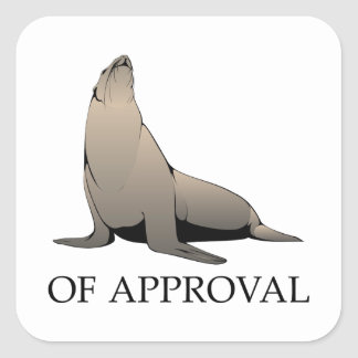 Seal Of Approval Square Sticker