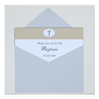 Sealed with a Blessing Blue - Religious Invitation