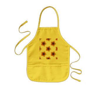 Seamless background with flowers kids apron