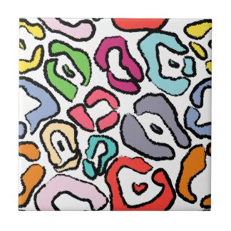 Seamless Colorful Jaguar Skin Background Tile