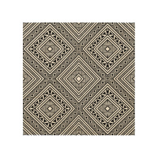 Seamless Ethnic Pattern 5 Wood Wall Art