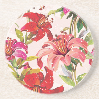 Seamless pattern with Lily Coaster