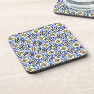Seamless Traditional Portuguese Azulejo Pattern Coaster