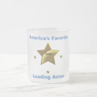 SEAN: AMERICA'S FAVORITE LEADING ACTOR FROSTED GLASS COFFEE MUG