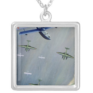 Seaplanes, 1933 silver plated necklace