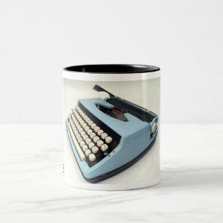 Sears portable typewriter Two-Tone coffee mug