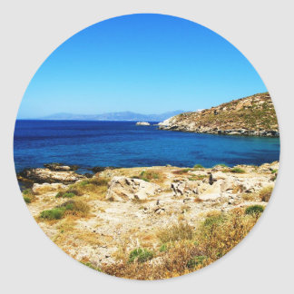 Seascape - Mykonos, Greece Classic Round Sticker