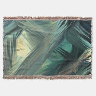 Seascape seaweed throw blanket