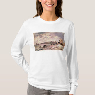 Seascape with ponies on the beach T-Shirt