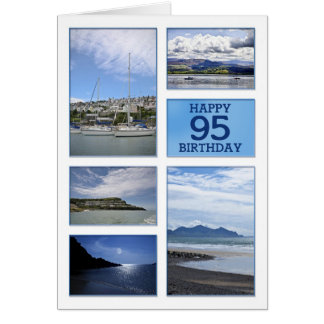 Seascapes 95th birthday card