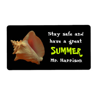Seashell Summer Candy Bar Wrapper From Teacher Shipping Label
