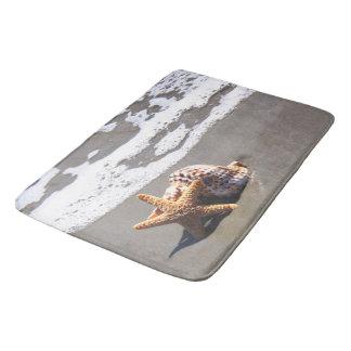 Seashells, Beach, Ocean, Bath, Home Rug or Mat Bath Mats