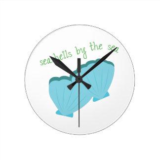 Seashells by Sea Round Clock