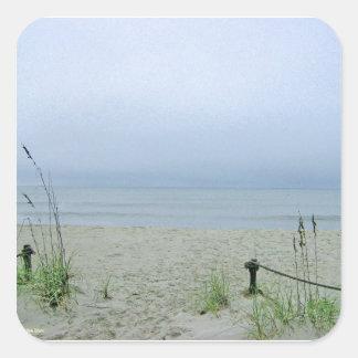 Seashore Dreamscape Square Sticker