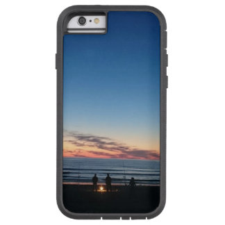 Seaside blue sky sunset. Night fishing Tough Xtreme iPhone 6 Case