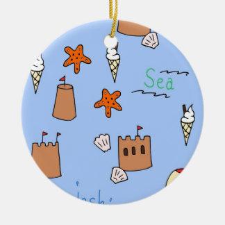 seaside christmas ornament